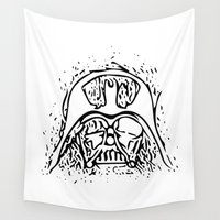 vader Wall Tapestries featuring Vader by Julia Bruggeman