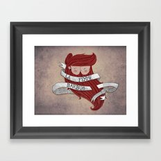 Bearded woman Framed Art Print