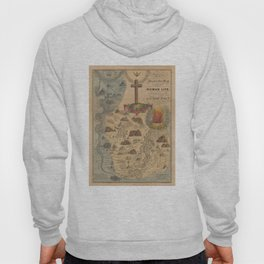 Old Biblical Map of The Sacred Writ (1847) Hoody