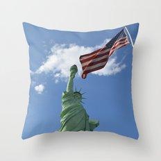 Liberty & Justice Throw Pillow