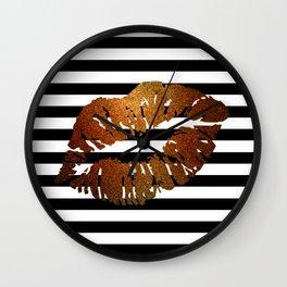 Stripes and Fire Kiss Wall Clock