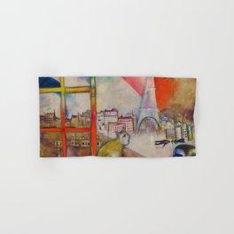 'Paris Through the Window' by Marc Chagall Hand & Bath Towel