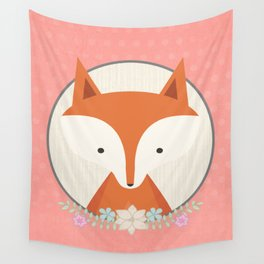 Fox in a frame Wall Tapestry