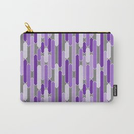 Modern Tabs in Purple and Lavender on Gray Carry-All Pouch