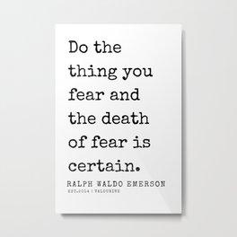 66  | Ralph Waldo Emerson Quotes | 200727 Metal Print