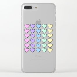 Candy Hearts Clear iPhone Case