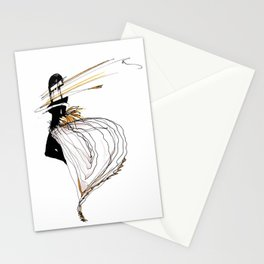 NEON GIRL Stationery Cards