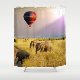 safari life Shower Curtain