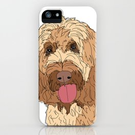 Harry the Goldendoodle Dog iPhone Case