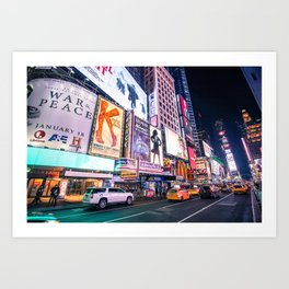 New York Neon Jungle Art Print