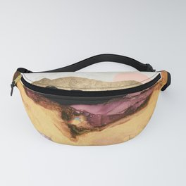 Mauve and Gold Mountains Fanny Pack