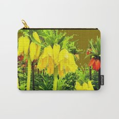 YELLOW CROWN IMPERIAL WATERCOLOR  FLOWERS Carry-All Pouch