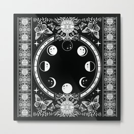 Astrological Moon Phase Magical Witchy  Metal Print