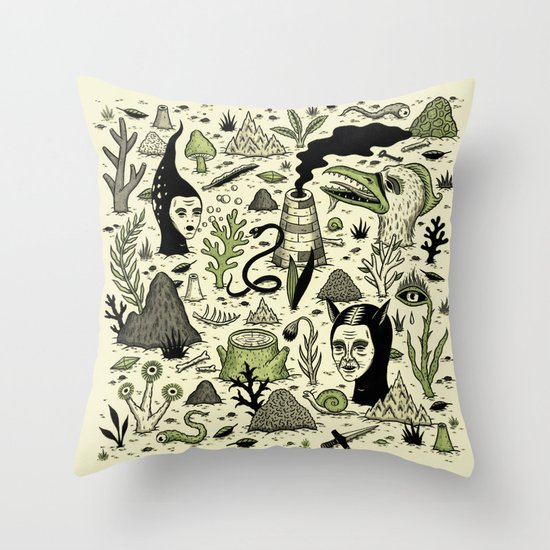 Verdant Graveyard Throw Pillow