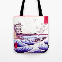 The GREAT Wave : Violet Purple Tote Bag
