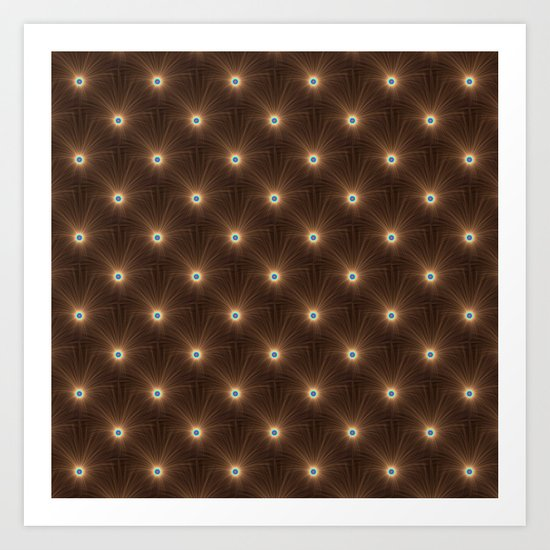 Chocolate Color Explosion tiled Art Print