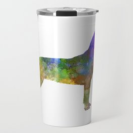 Slovakian Hound in watercolor Travel Mug