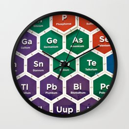 Elements of periodic table Wall Clock