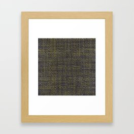 Black and Yellow Framed Art Print