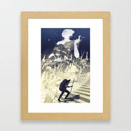 Europa & The Traveller Framed Art Print