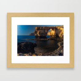 Azure Window Framed Art Print
