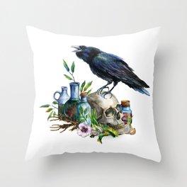 Raven Magick Throw Pillow