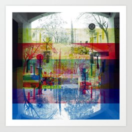 Remembering rushing through but without obstacles. [CMYK] Art Print