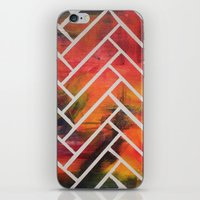 herringbone iPhone & iPod Skins featuring Herringbone by Alyssa Clancy