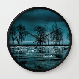 Distorted Reflections Wall Clock