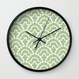 Fan Pattern Nile Green 113 Wall Clock