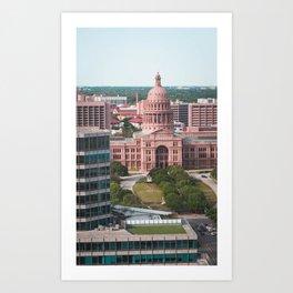 Texas State Capital Austin Government Building Art Print