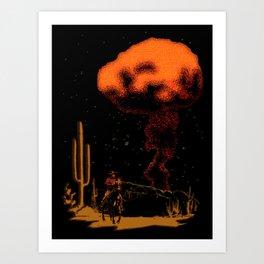 Atomic Cowboy Art Print