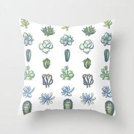 One Dozen Succulents Throw Pillow