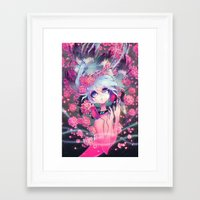 barachan Framed Art Prints featuring boundless by barachan