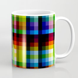 Colorful Rainbow Grid Naga Coffee Mug
