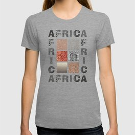Africa - background with text and texture wild animal T-shirt