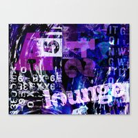 typo Canvas Prints featuring Lounge Typo by LebensART