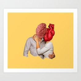 Romantic people Art Print