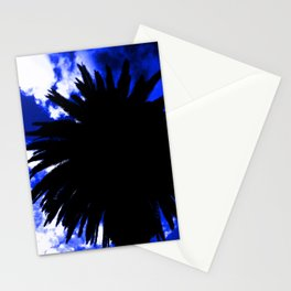 Palm Tree Silhouette - Groove Of Midnight Stationery Cards