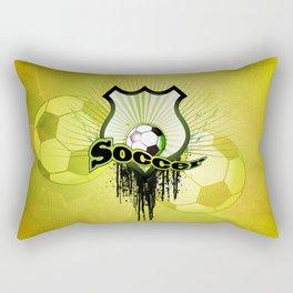 Soccer, football on a shield Rectangular Pillow