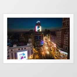 Callao & Gran Via Art Print