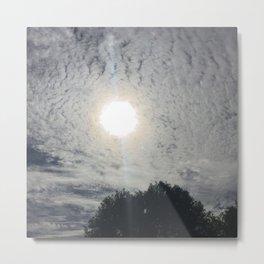 sun behind clouds Metal Print
