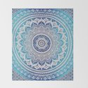 Teal And Aqua Lace Mandala by ekaterina_sokol_designs