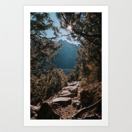 On the trail - Landscape and Nature Photography Art Print