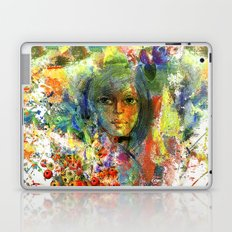 Girl with fruits. Laptop & iPad Skin