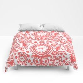 WEIMARANER ON POINT IN RED Comforters