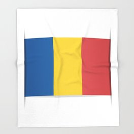 Flag of Chad, officially the Republic of Chad.  The slit in the paper with shadows. Throw Blanket