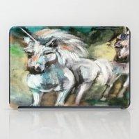 unicorns iPad Cases featuring Unicorns by osile ignacio