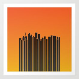 Sydney City Barcode Art Print