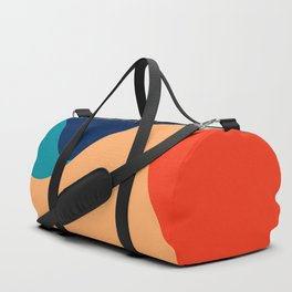 Retro 70's colorful abstraction Duffle Bag